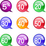 Icons Discount Royalty Free Stock Image
