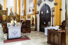 Icons displayed in church Royalty Free Stock Images