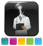 Icons with doctor man Royalty Free Stock Image