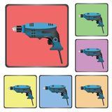 Icons of drill Royalty Free Stock Photos