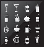 Icons of drinks Royalty Free Stock Photos