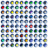 Icons drop Royalty Free Stock Photography