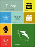 Icons of Dubai Royalty Free Stock Image