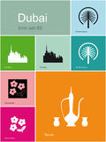 Icons of Dubai Stock Photos