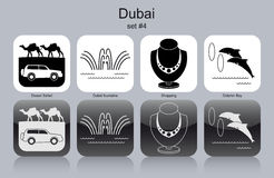 Icons of Dubai Royalty Free Stock Images