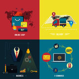 Icons for e-commerce, delivery, online shopoing. Royalty Free Stock Photos