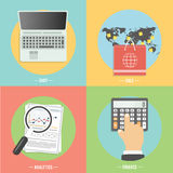 Icons for e-commerce, delivery, online shopoing. Royalty Free Stock Images