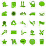 Icons ecology. Stock Image