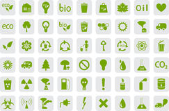 Icons of Ecology and pollution Stock Images