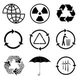 Icons of ecology Royalty Free Stock Photography