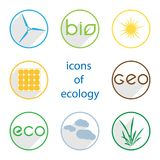 Icons of ecology Stock Image