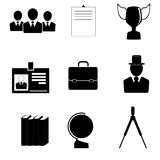 Icons for education and business. Stock Photography