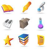 Icons for education and knowlegde Royalty Free Stock Photography