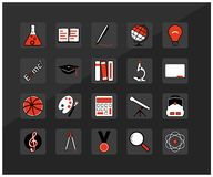 Icons of education, school, university. Stock Photography