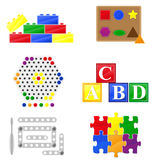 Icons educational toys for children Stock Photography