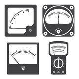 Icons of electrical measuring instruments Stock Photos
