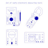 Icons of electrical measuring instruments. Vector illustration Royalty Free Stock Photography