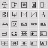 Icons electrical symbols Stock Images