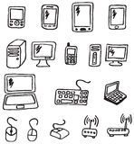 Icons - Electronics Stock Photo