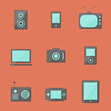 Icons of electronics Royalty Free Stock Photos