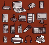 Icons - Electronics Royalty Free Stock Photo