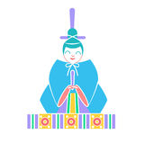 Icons emperor   dolls. Icon in the linear style Stock Images