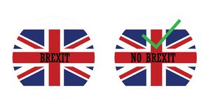 Icons with the english flag and brexit royalty free stock photography