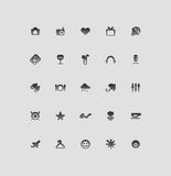 Icons for entertainment Royalty Free Stock Image