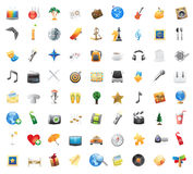 Icons for entertainment Royalty Free Stock Images