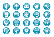 Icons Equipment. Set of 20 icons and design-elements Royalty Free Stock Photography