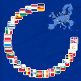 27 icons of european union. Vector illustration of 27 icons of european union Stock Photo