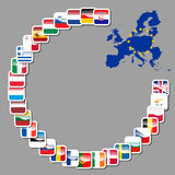 28 icons of european union Stock Photos