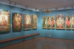 Icons exhibition in Kostroma Stock Images