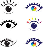 Icons of eyes. Stock Images