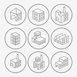 Icons  factories Stock Images