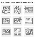 Icons. Factory machine icons sets on white background vector illustration
