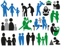 Icons family Stock Image