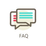 Icons for faq, support, contact. Royalty Free Stock Photography