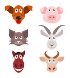 Icons of farm animals Stock Image