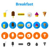 Icons for fast food Royalty Free Stock Photos