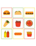 Icons: Fastfood Royalty Free Stock Photo