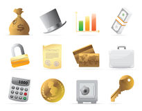 Icons for  finance, money and security Royalty Free Stock Image