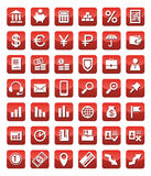Icons Finance red. Stock Images