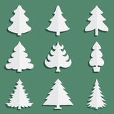 Icons fir-tree. Christmas fir-tree of an icon Stock Photography