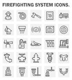 Icons. Firefighting system icons sets on white background Royalty Free Stock Image