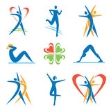 Fitness_healthy_ lifestyle _icons Stock Image