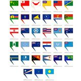 Icons with the flags of Australia and Oceania Royalty Free Stock Photography