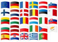 Icons of flags of the European Union Royalty Free Stock Photos