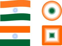 Icons and Flags of India Royalty Free Stock Photo