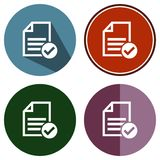 Icons flat accept file. For Web, Mobile and business Royalty Free Stock Photography